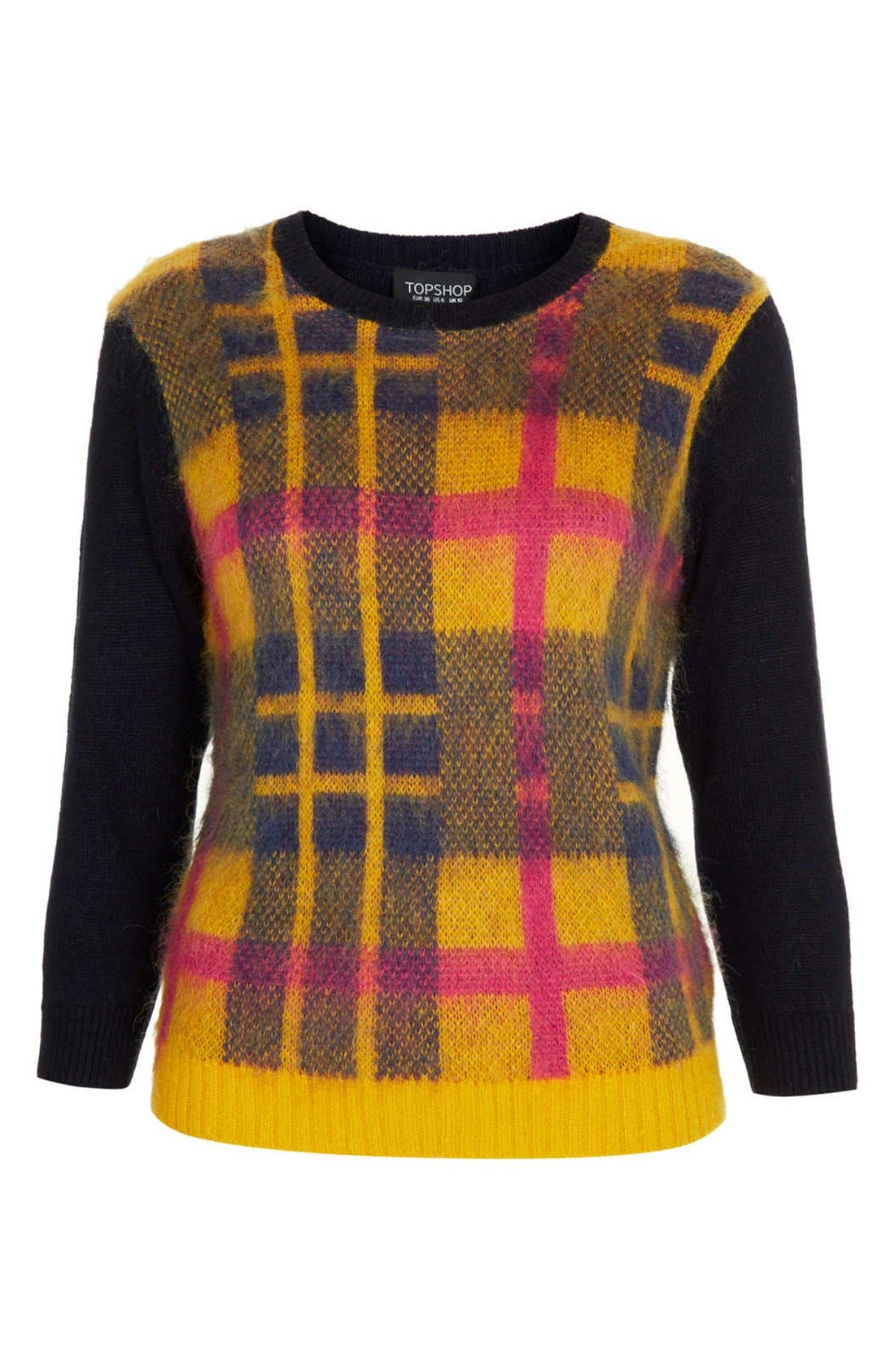 Alternate Image 3  - Topshop Plaid Front Sweater