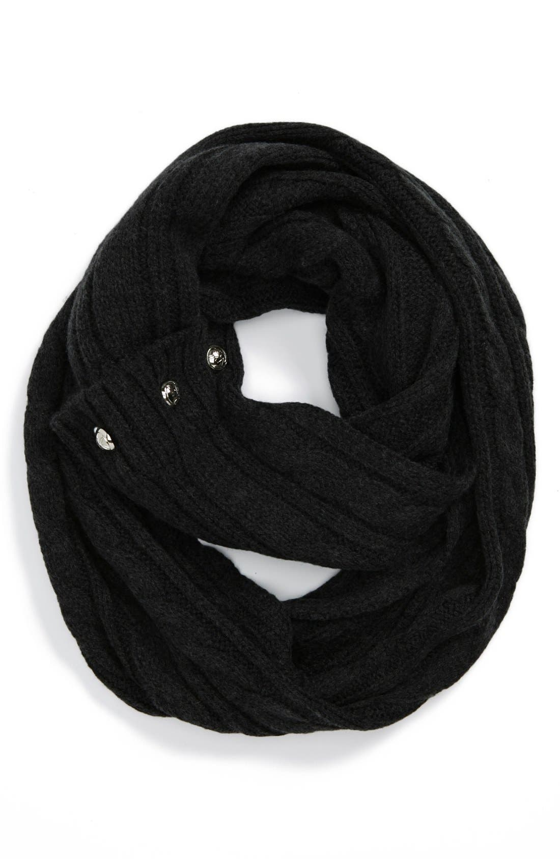 Main Image - MICHAEL Michael Kors Buttoned Infinity Scarf