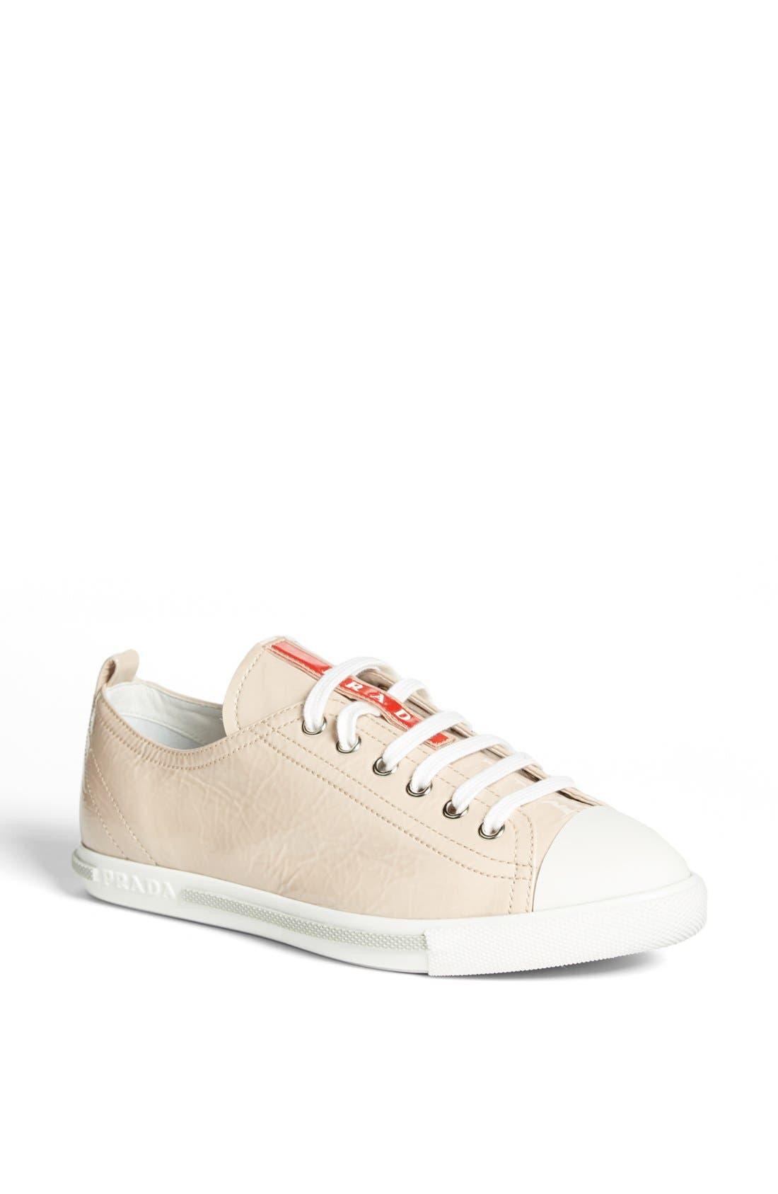 Alternate Image 1 Selected - Prada Low Top Cap Toe Sneaker