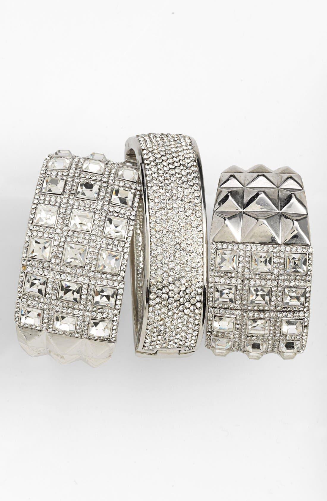 Alternate Image 1 Selected - Cara Pavé Bracelets