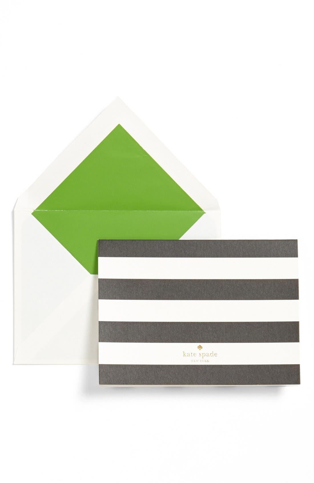 Main Image - kate spade new york 'polka dot' note cards (Set of 10)