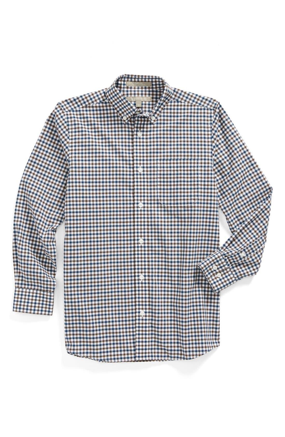 Alternate Image 1 Selected - Nordstrom Gingham Dress Shirt (Big Boys)