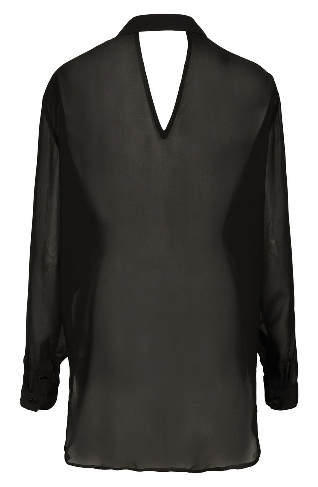 Alternate Image 2  - Topshop 'The Collection Starring Kate Bosworth' Chiffon Shirt