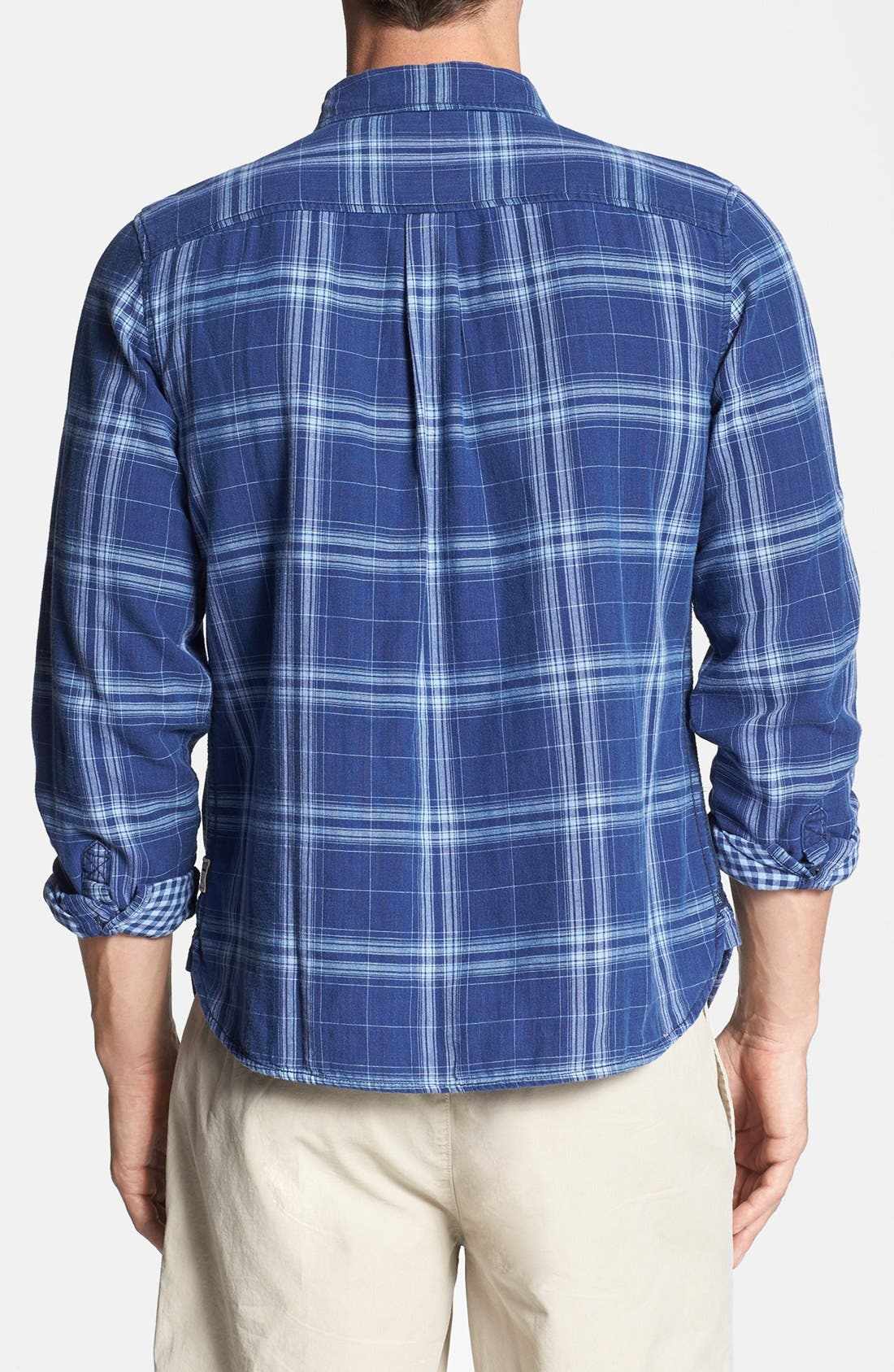Alternate Image 2  - Surfside Supply Double Face Plaid Cotton Shirt