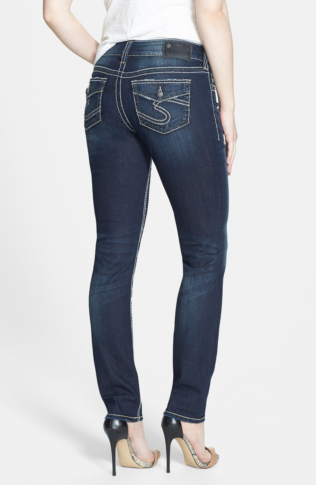 Alternate Image 2  - Silver Jeans Co. 'Suki' Skinny Jeans (Indigo)