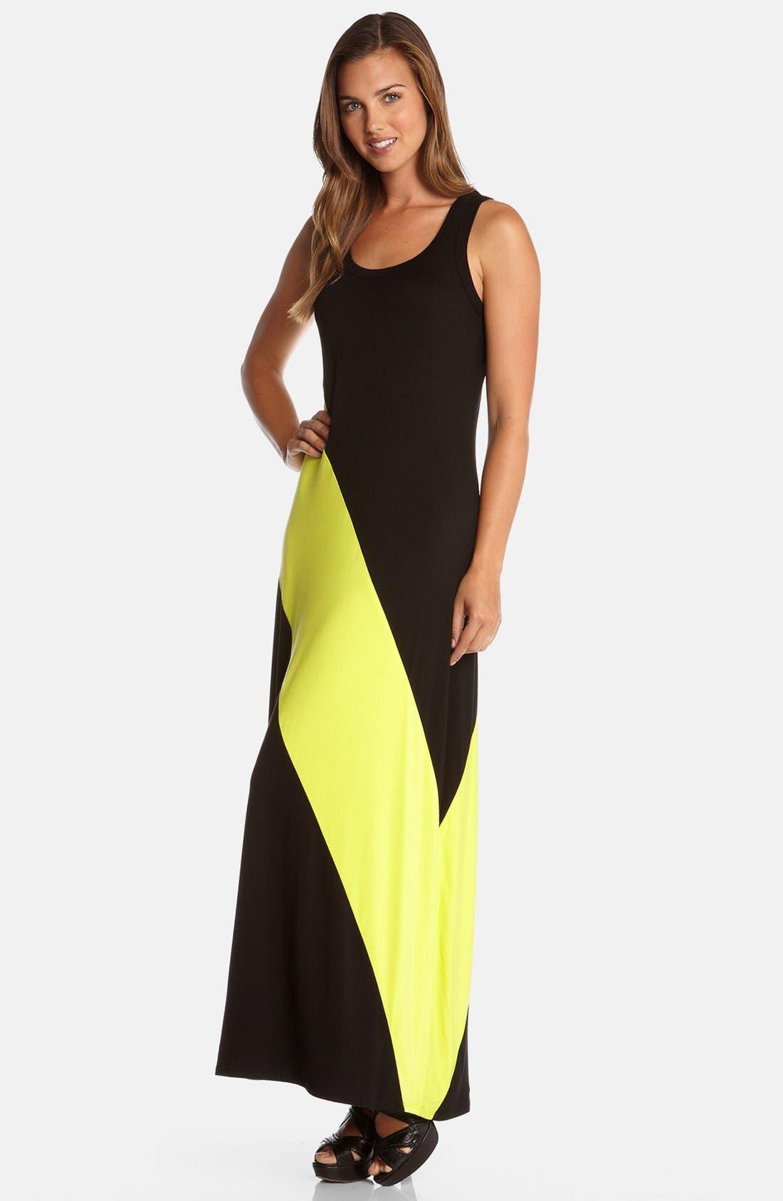 Alternate Image 3  - Karen Kane Diagonal Stripe Maxi Dress