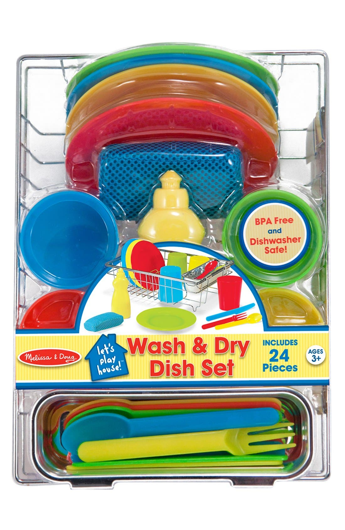 Melissa & Doug Wash & Dry Dish Set Toy