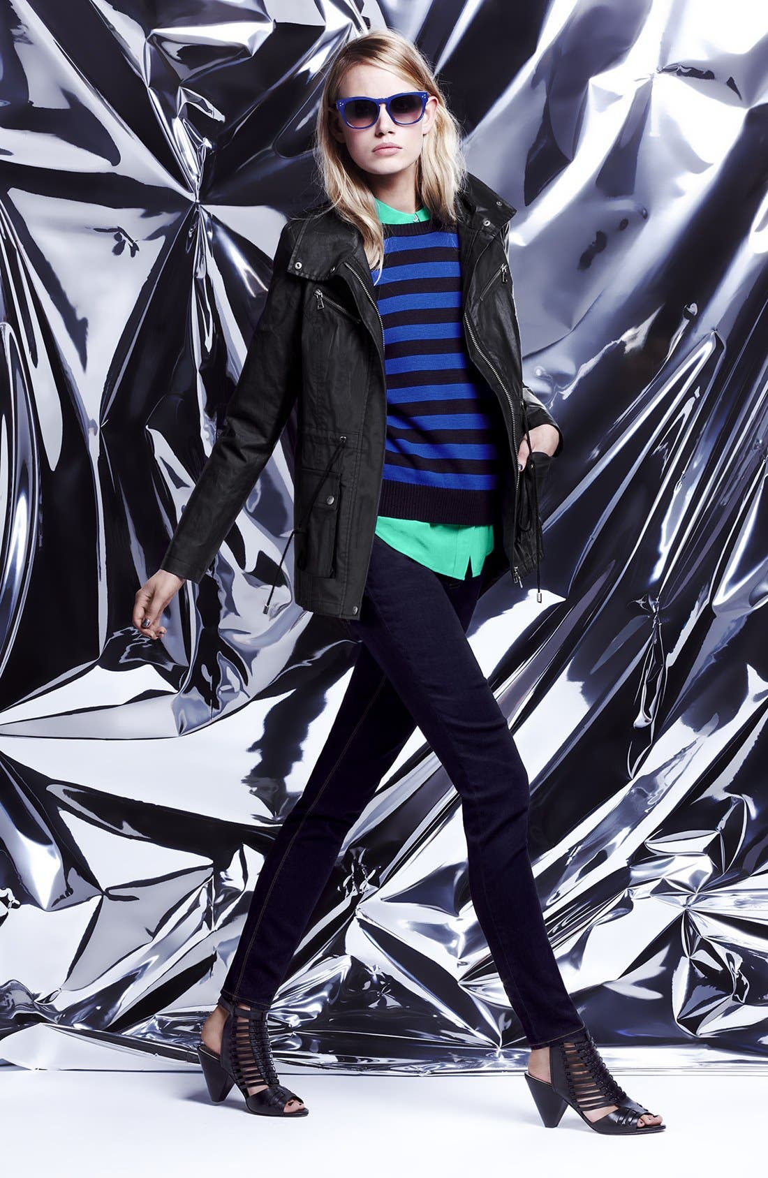 Alternate Image 5  - Two by Vince Camuto 'Urban Safari' Coated Cotton Anorak