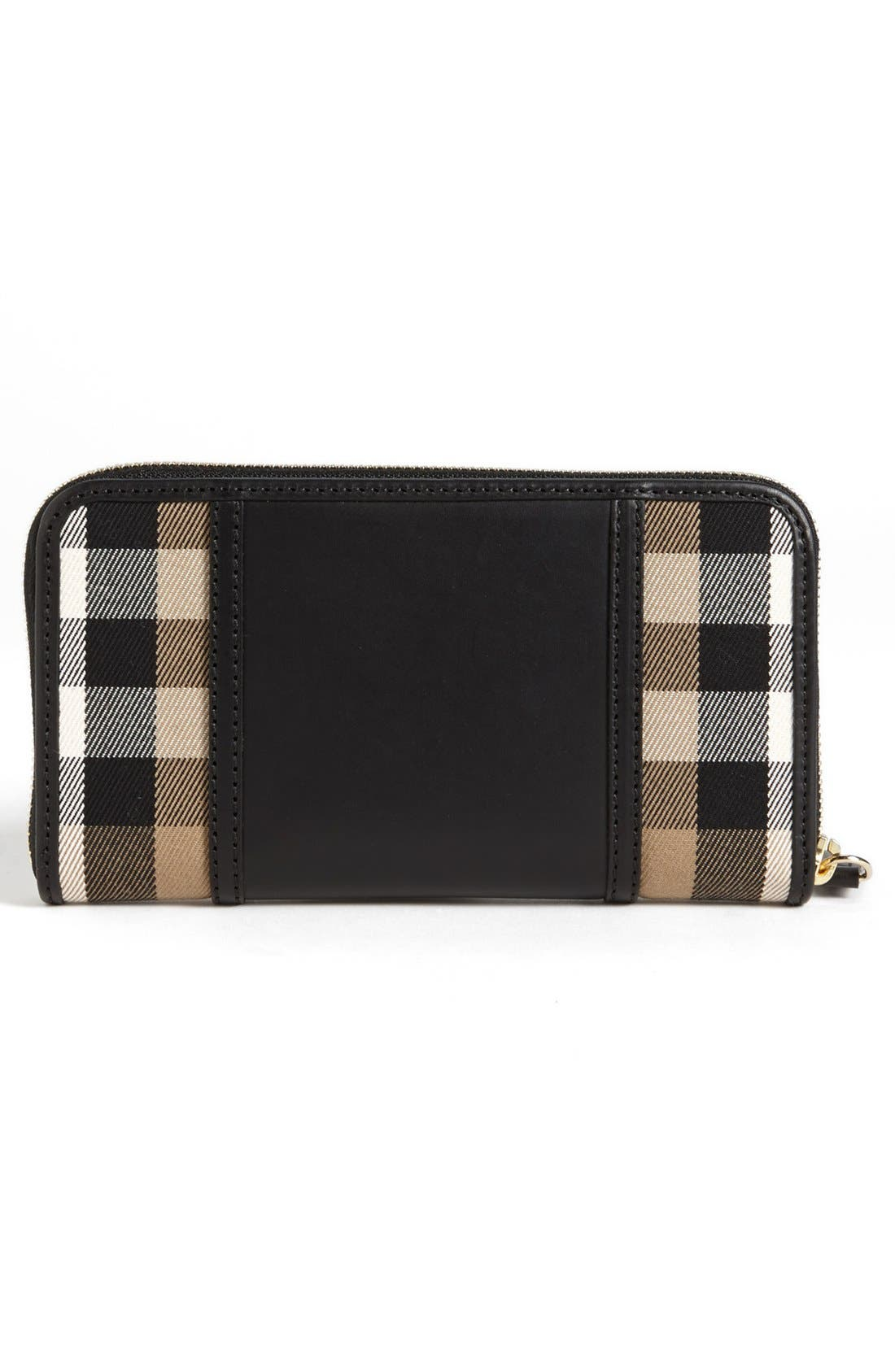 Alternate Image 3  - Burberry 'House Check - Large' Zip Around Wallet