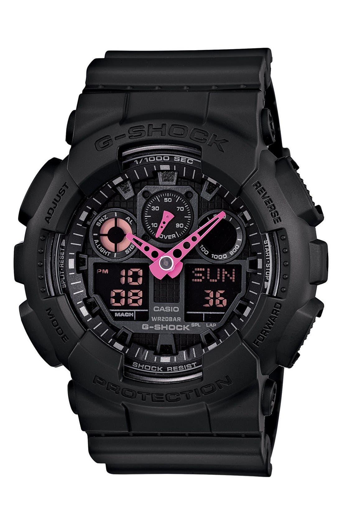 Alternate Image 1 Selected - G-Shock 'Neon Highlights' Ana-Digi Watch, 55mm