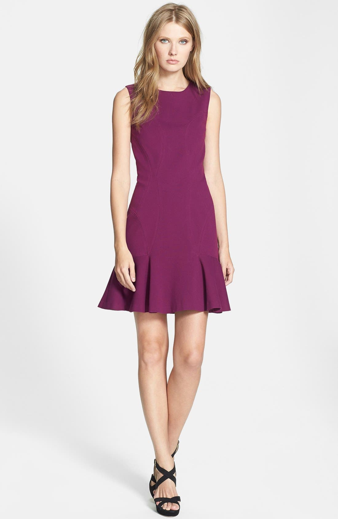 Alternate Image 1 Selected - Diane von Furstenberg 'Jaelyn' Ponte Sheath Dress