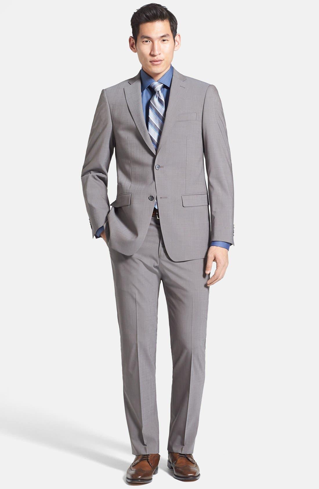 Main Image - Michael Kors Trim Fit Stretch Wool Suit