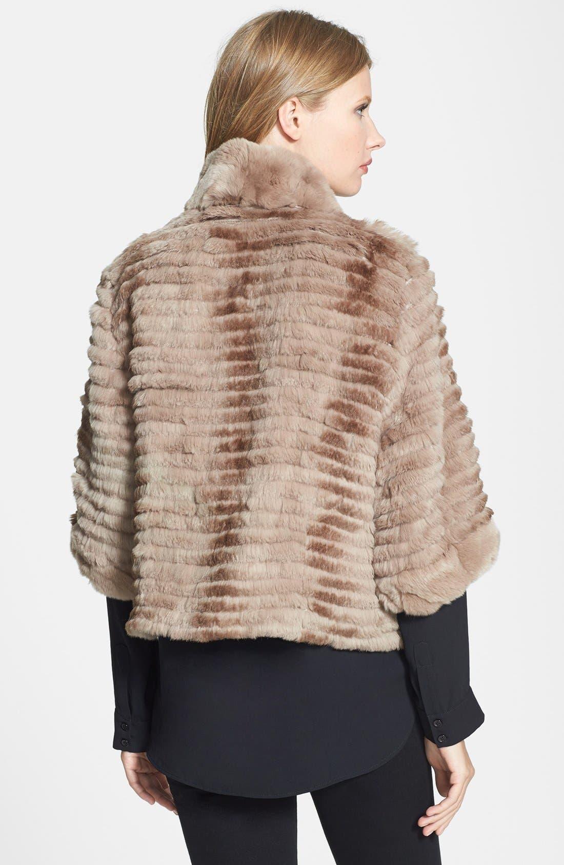 Alternate Image 2  - Dena Home Genuine Rabbit Fur Jacket