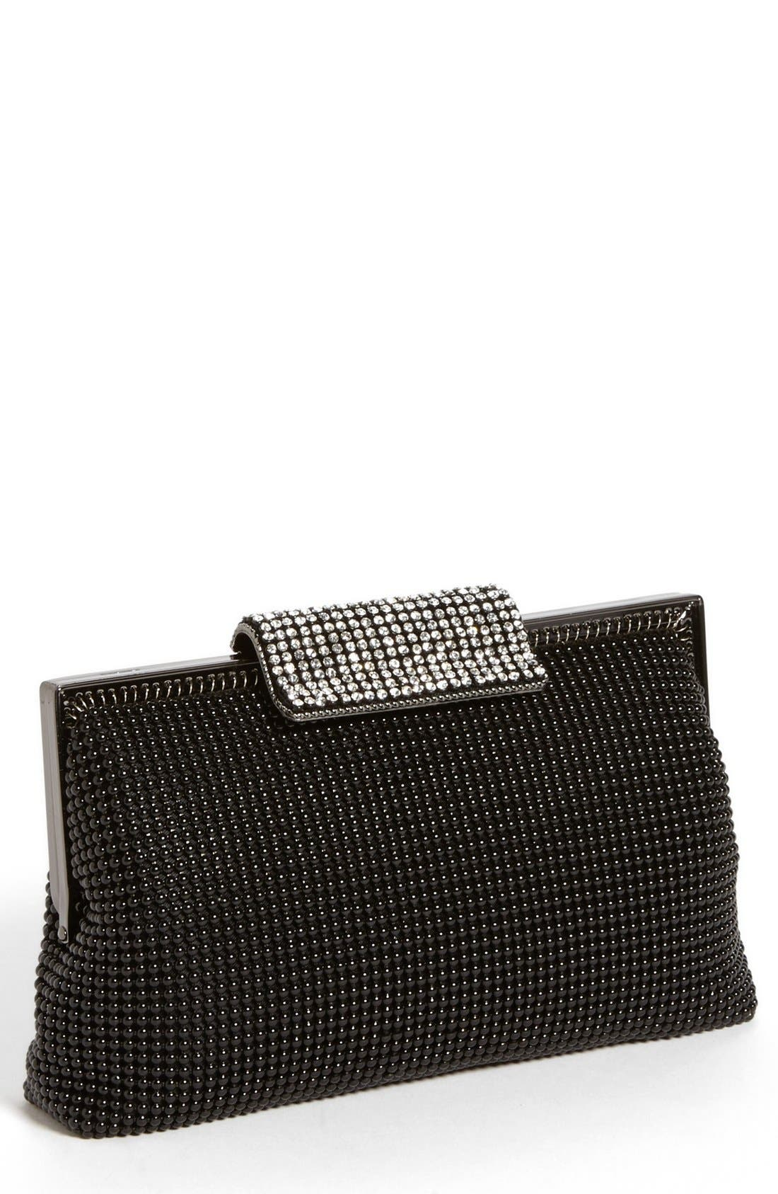 CRYSTAL FRAME CLUTCH - BLACK