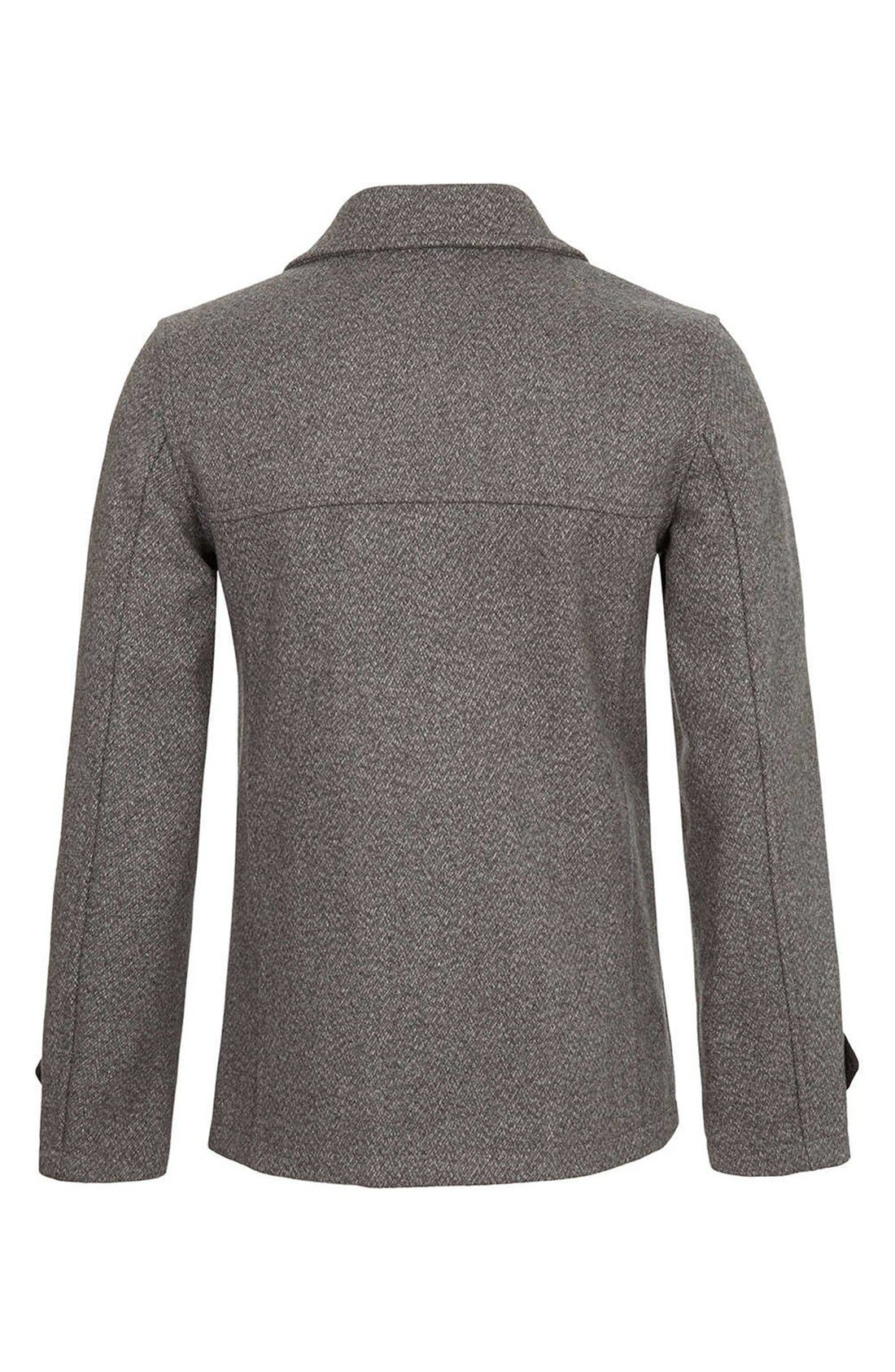Alternate Image 2  - Topman Skinny Fit Double Breasted Peacoat
