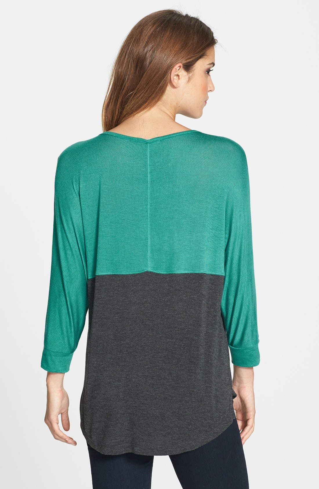 Alternate Image 2  - Pleione Colorblock Dolman Sleeve Jersey Top