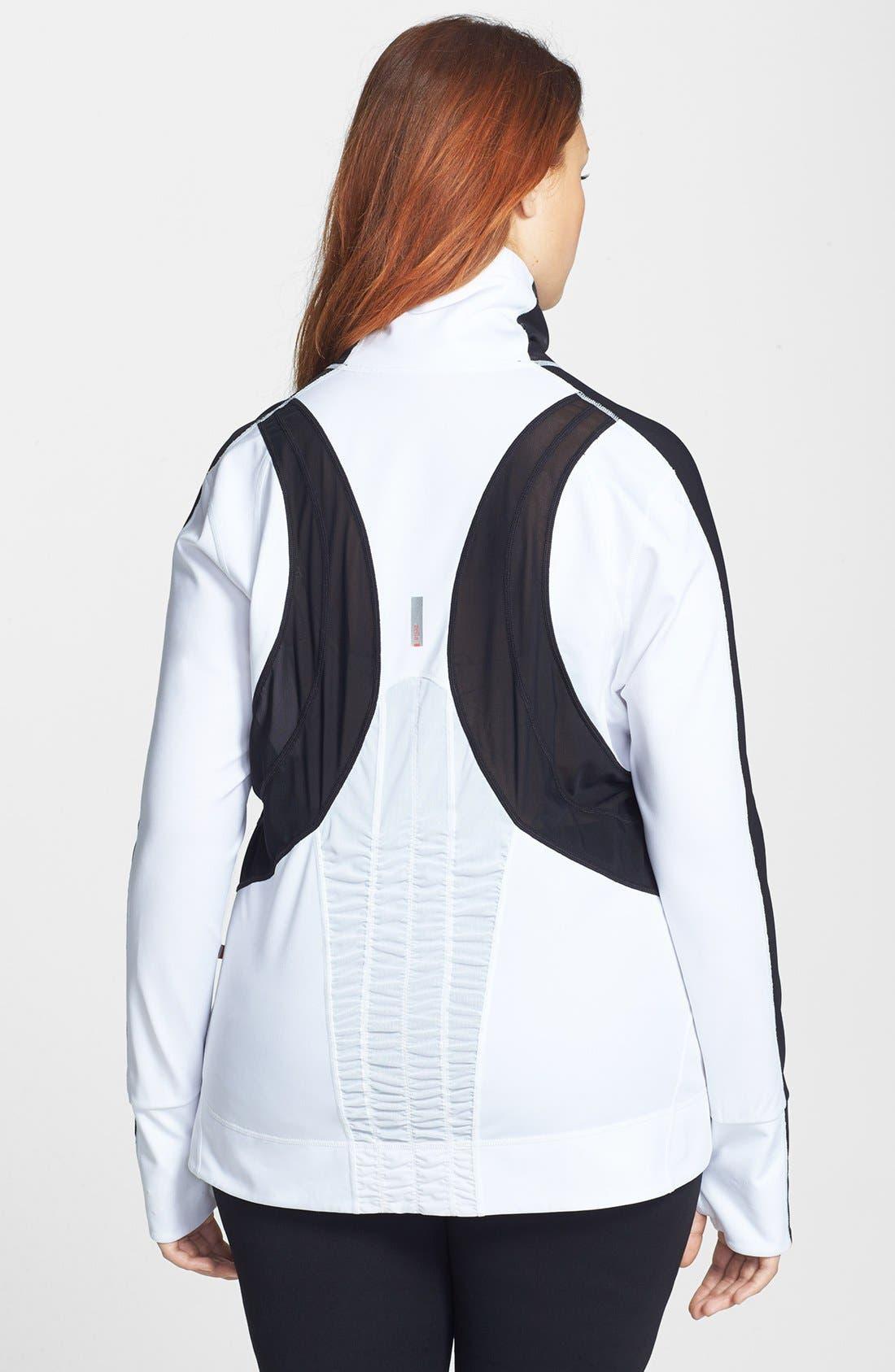 Alternate Image 2  - Zella 'Bliss' Colorblock Jacket (Plus Size)