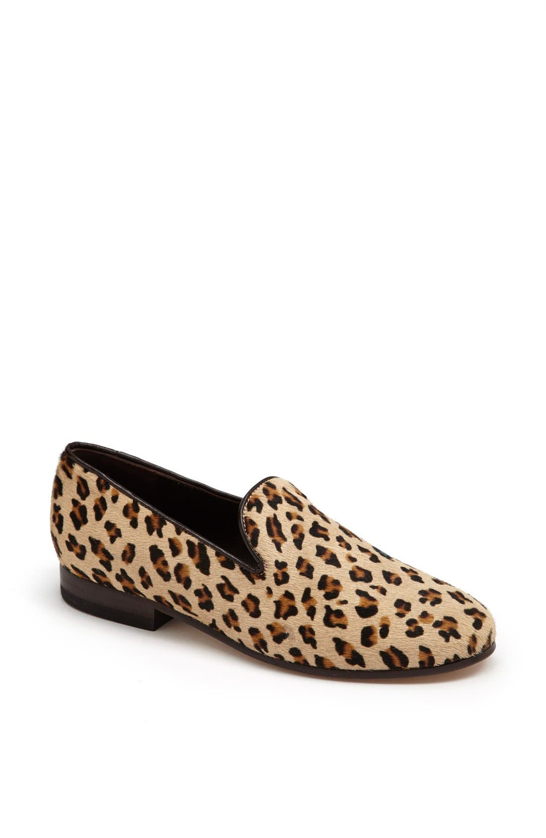 Alternate Image 1 Selected - CB Made in Italy Leopard Print Slipper Flat