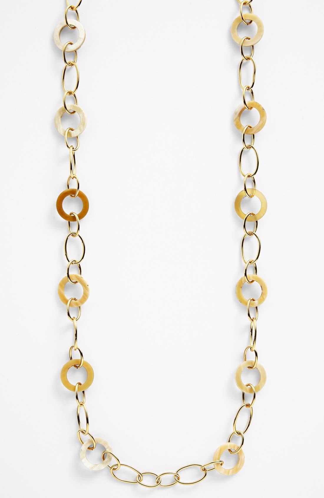 Alternate Image 2  - Lauren Ralph Lauren Horn & Chain Link Necklace