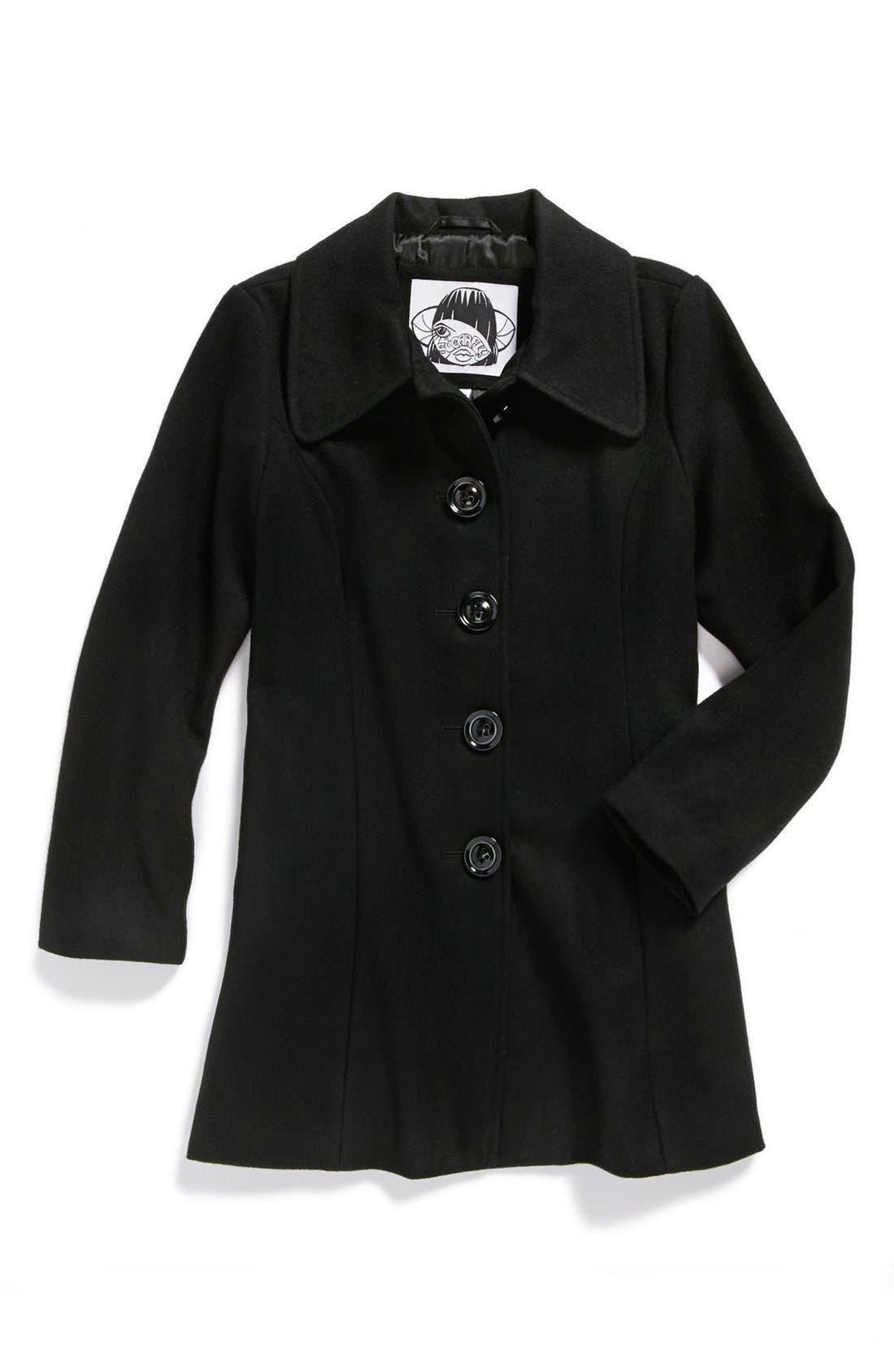 Alternate Image 1 Selected - Sugarfly Wool Blend Coat (Big Girls)