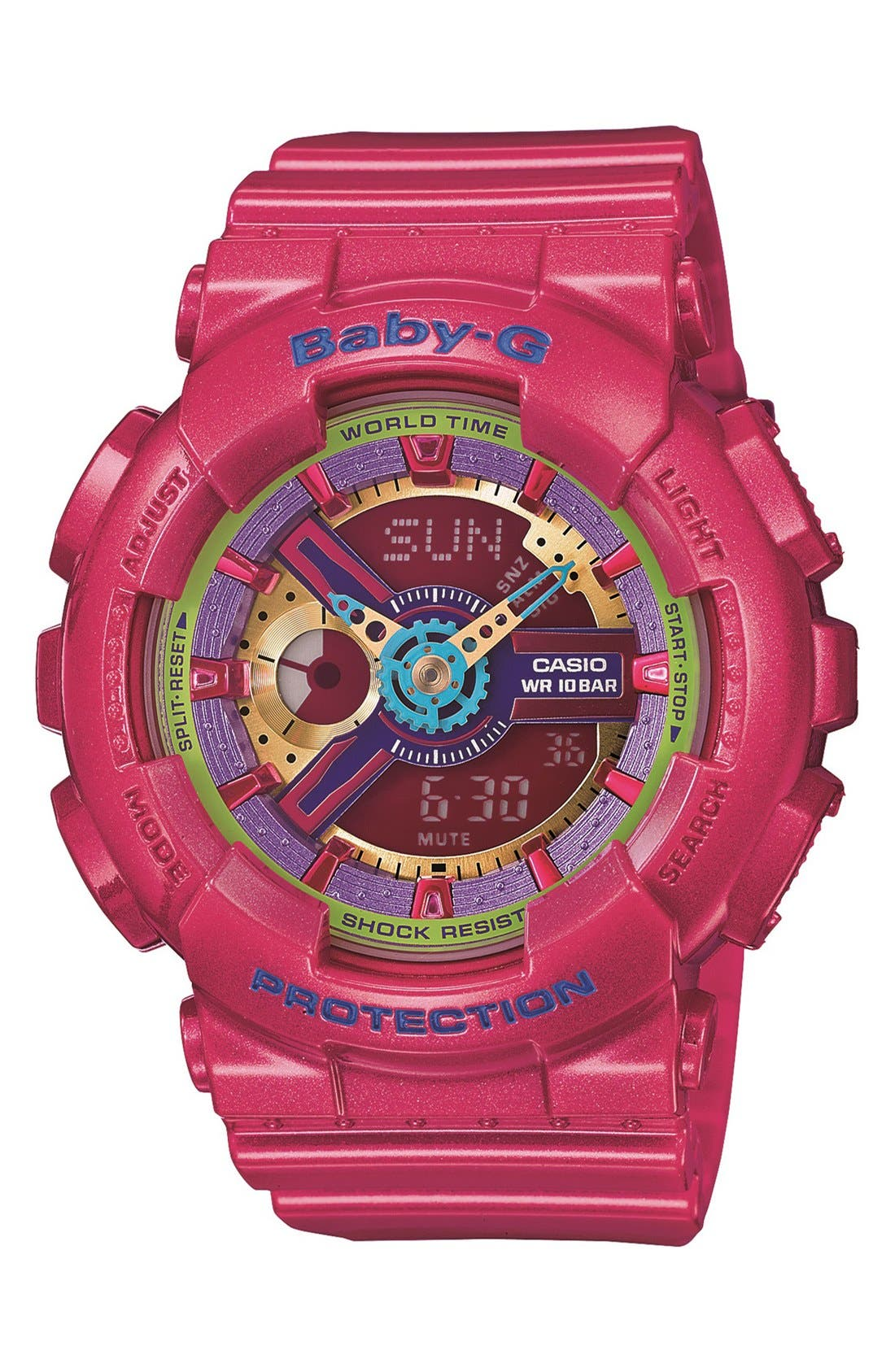 Alternate Image 1 Selected - Baby-G Round Ana-Digi Watch, 43mm