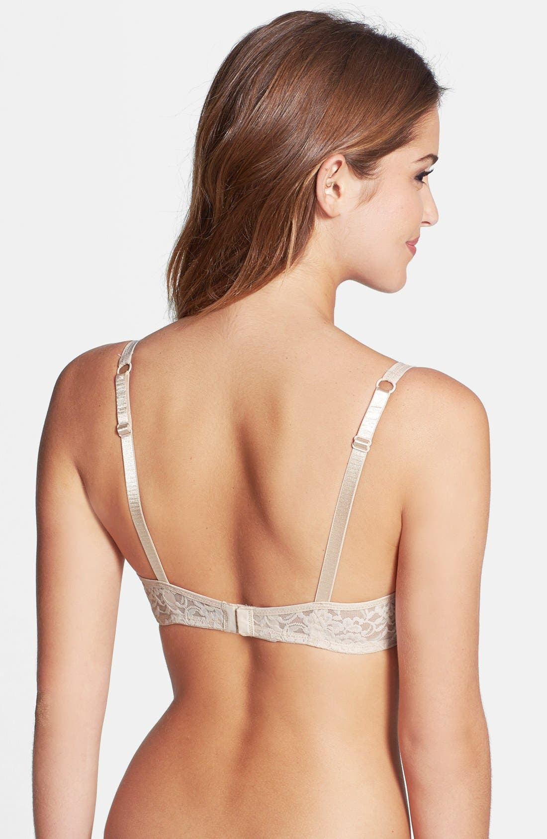 Alternate Image 2  - DKNY 'Signature Lace' Unlined Underwire Demi Bra