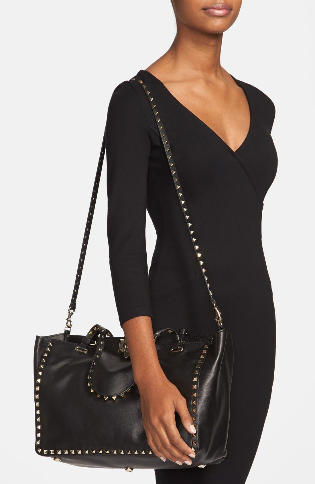 Alternate Image 2  - Valentino 'Medium Rockstud' Double Handle Leather Tote