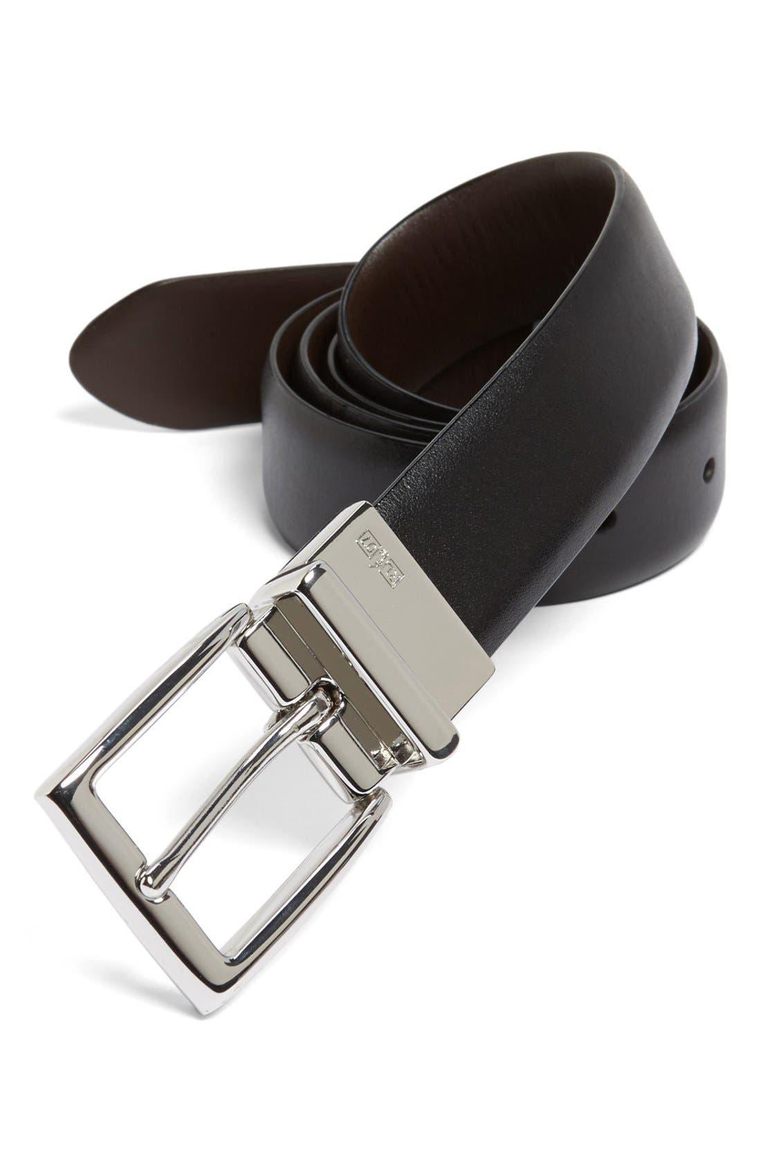 Reversible Belt,                         Main,                         color, Black/ Brown