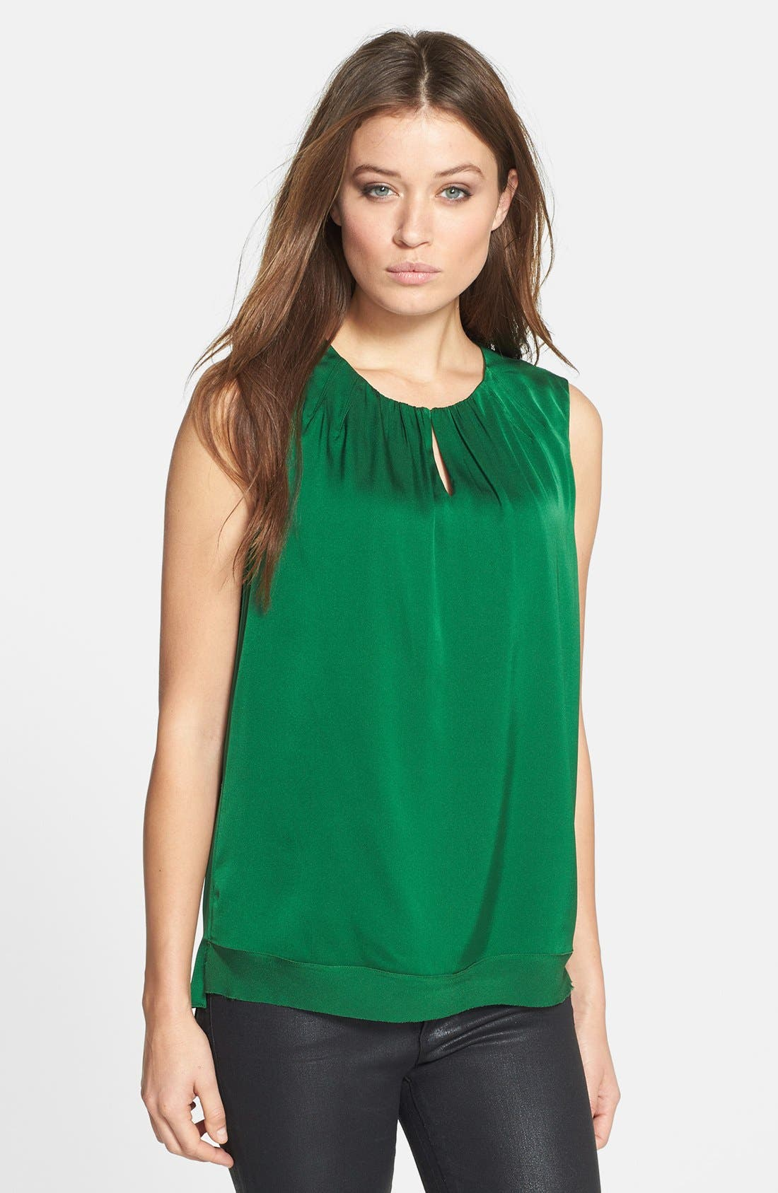 Main Image - Elie Tahari 'Anabelle' Sleeveless Stretch Silk Blouse