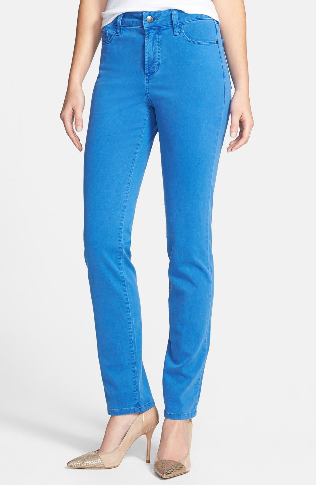 Main Image - NYDJ 'Sheri' Colored Stretch Denim Skinny Jeans