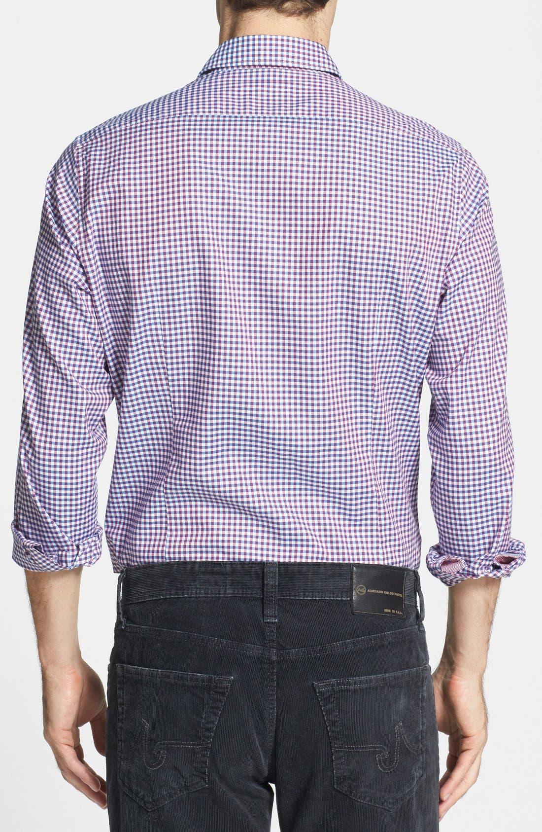 Alternate Image 2  - BOSS HUGO BOSS 'Obert' Regular Fit Check Sport Shirt