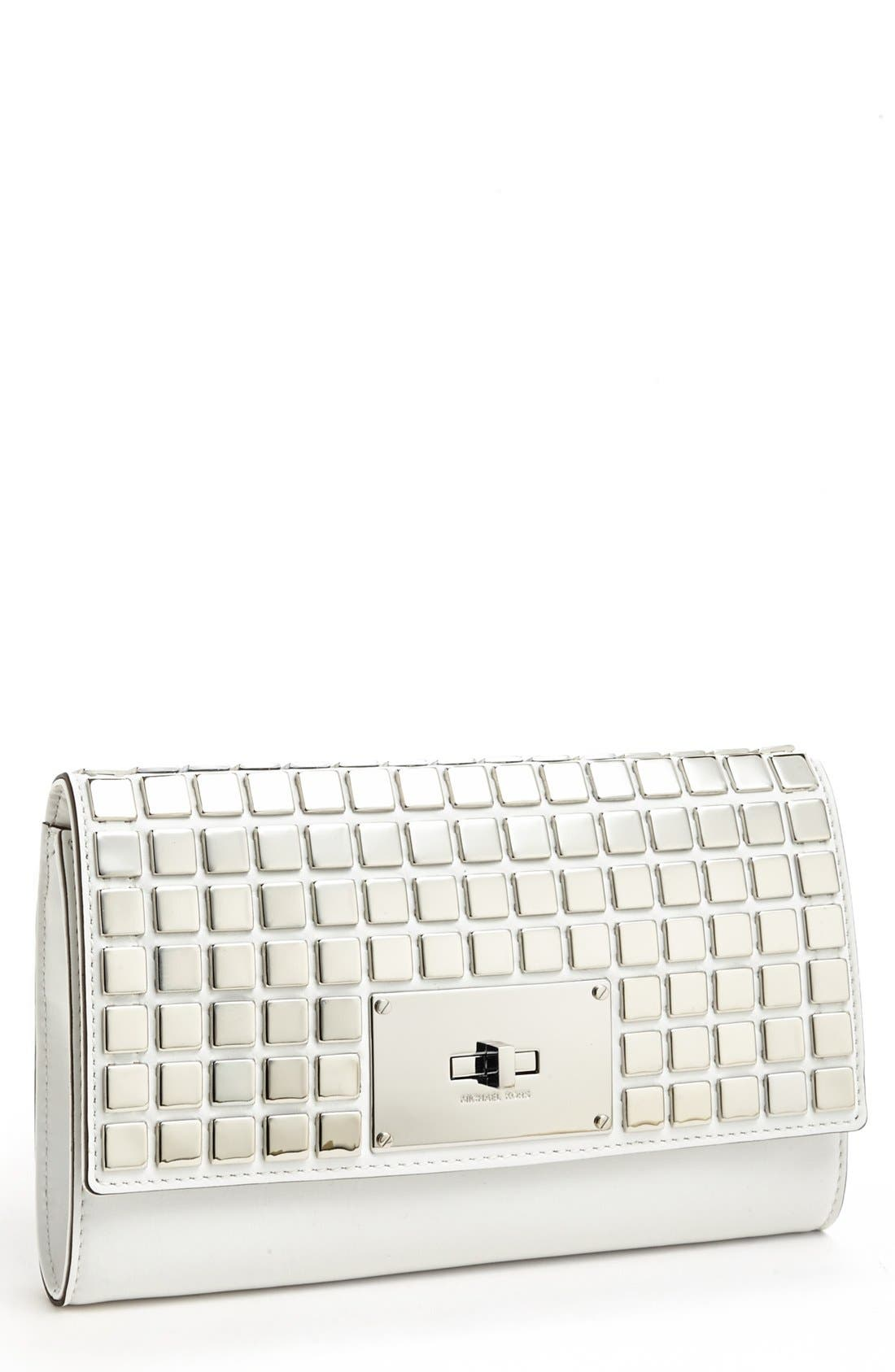 Alternate Image 1 Selected - MICHAEL Michael Kors Leather Clutch