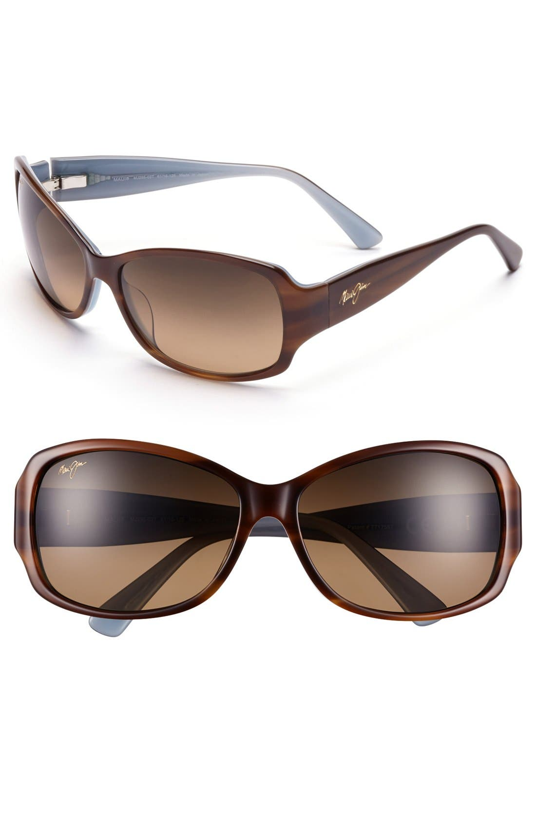 Nalani 61mm PolarizedPlus2<sup>®</sup> Sunglasses,                         Main,                         color, Tortoise/ White/ Blue