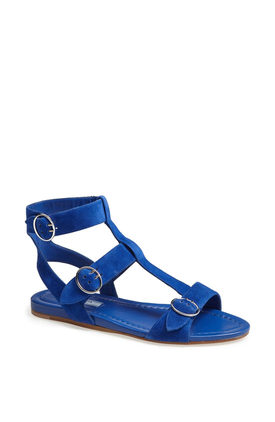 Main Image - Prada Triple Buckle Gladiator Sandal