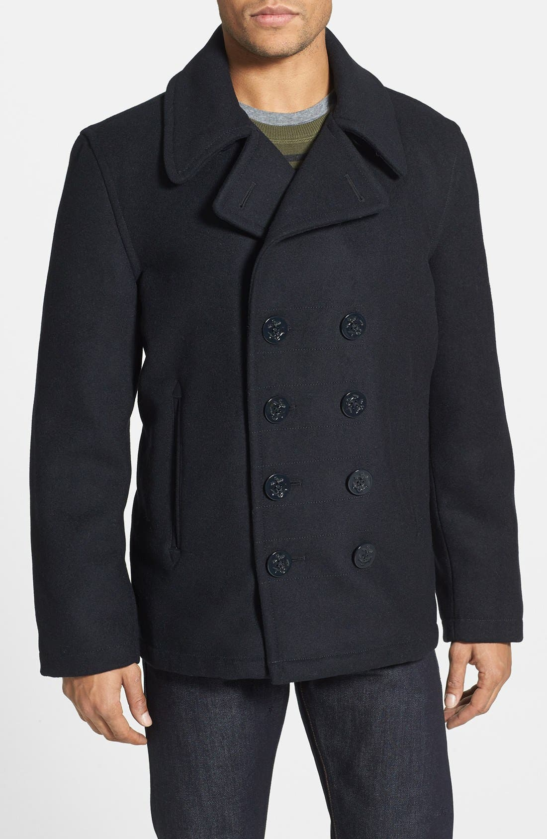 Main Image - Spiewak 'Dugan' Wool Blend Peacoat