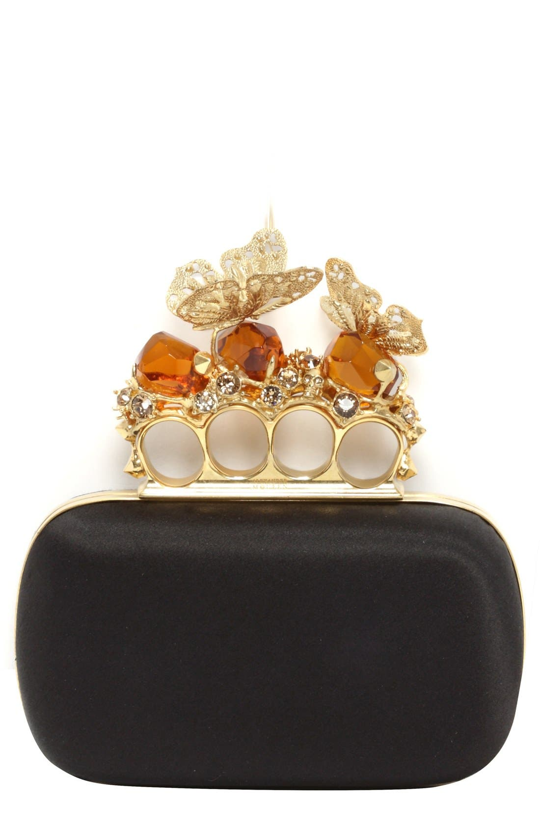 Alternate Image 1 Selected - Alexander McQueen 'Butterfly  Knuckle Clasp' Clutch