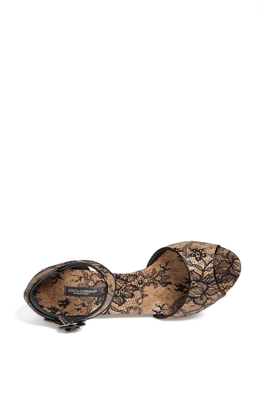 Alternate Image 3  - Dolce&Gabbana Lace Wedge Sandal
