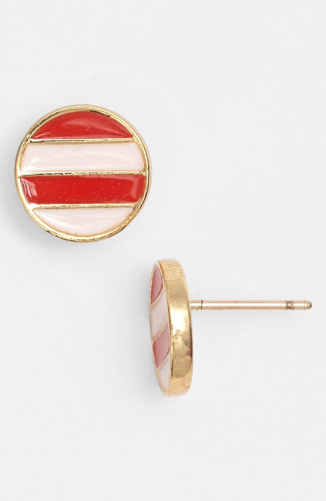 Alternate Image 1 Selected - kate spade new york 'spot the shore' enamel stripe stud earrings