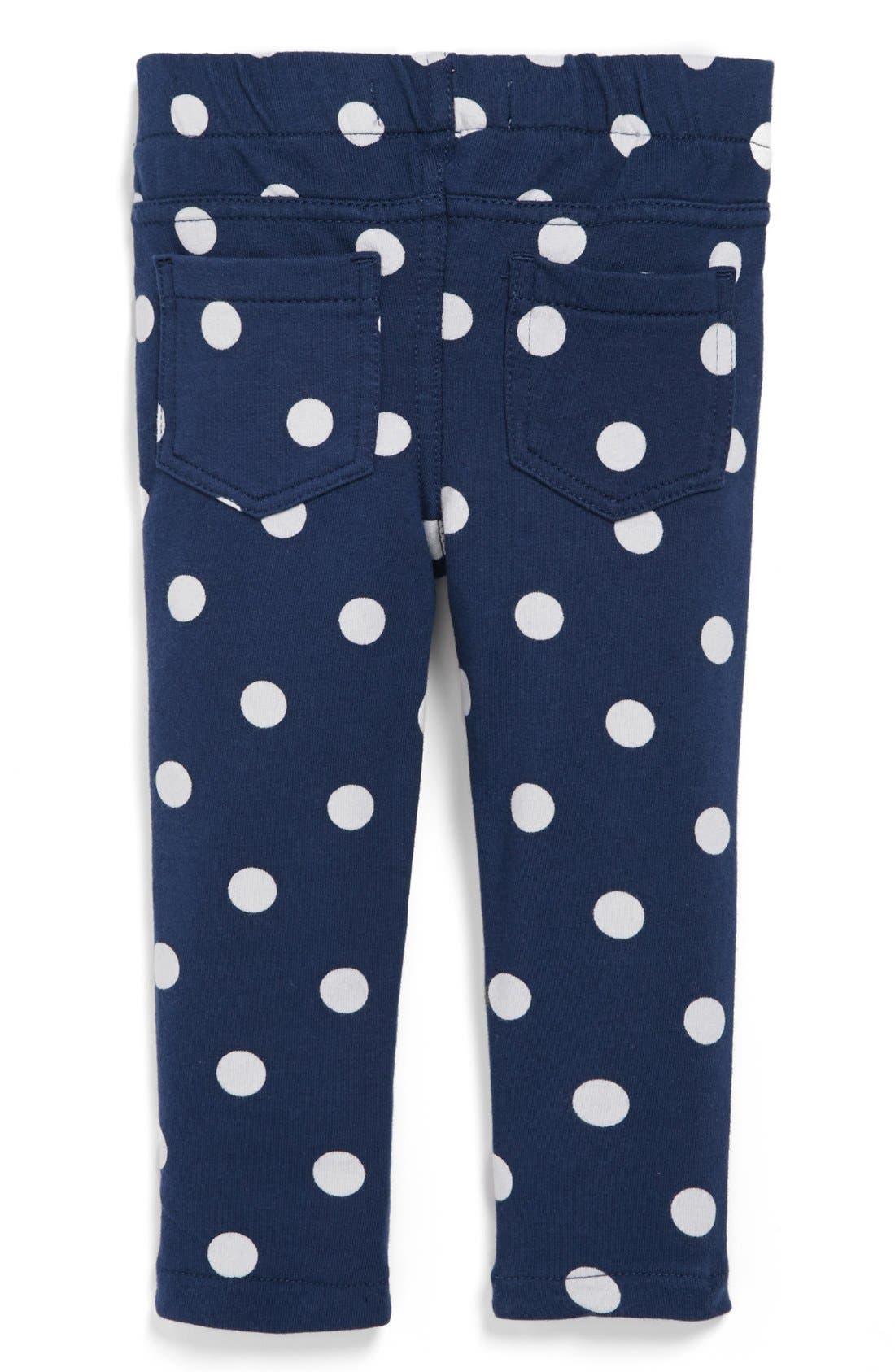 'Sadie' Print Leggings,                         Main,                         color, Blue White/ Dot