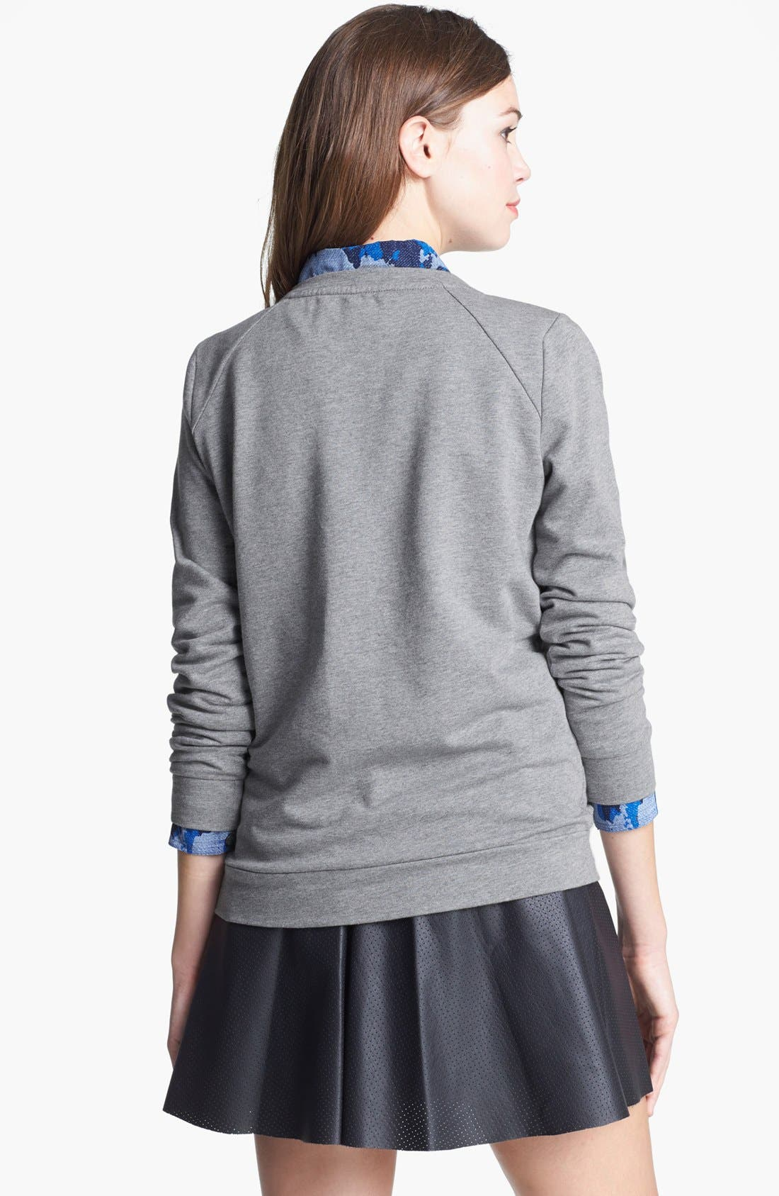 Alternate Image 2  - Two by Vince Camuto Jeweled Baseball Sweatshirt