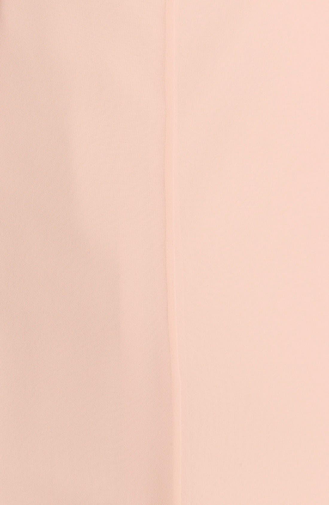 Alternate Image 3  - Jenny Yoo 'Cecilia' Ruffled V-Neck Chiffon Long Dress (Online Only)