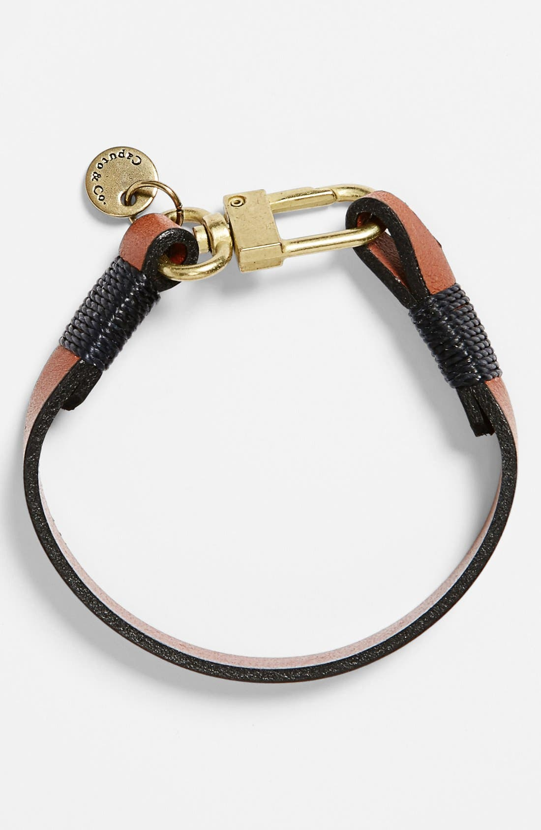 Alternate Image 1 Selected - CAPUTO & CO 'The Clean' Leather Bracelet