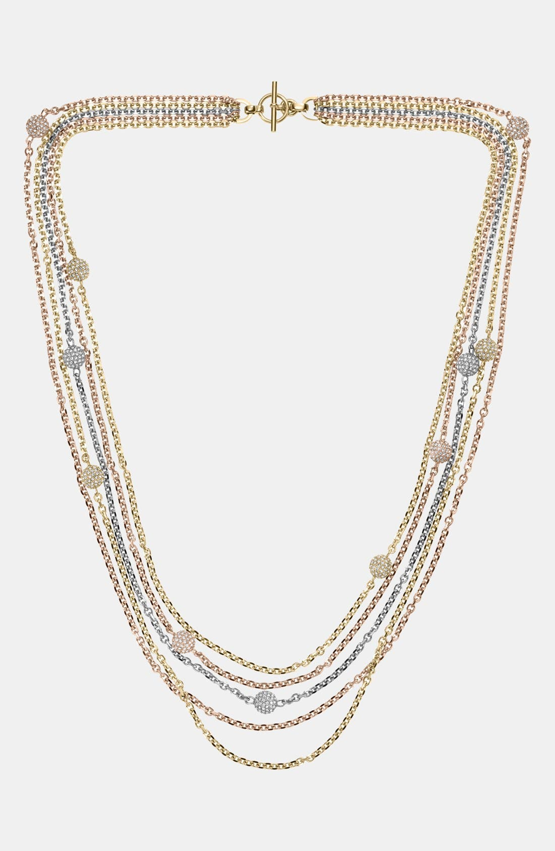 Alternate Image 1 Selected - Michael Kors 'Fireball' Station Multistrand Necklace