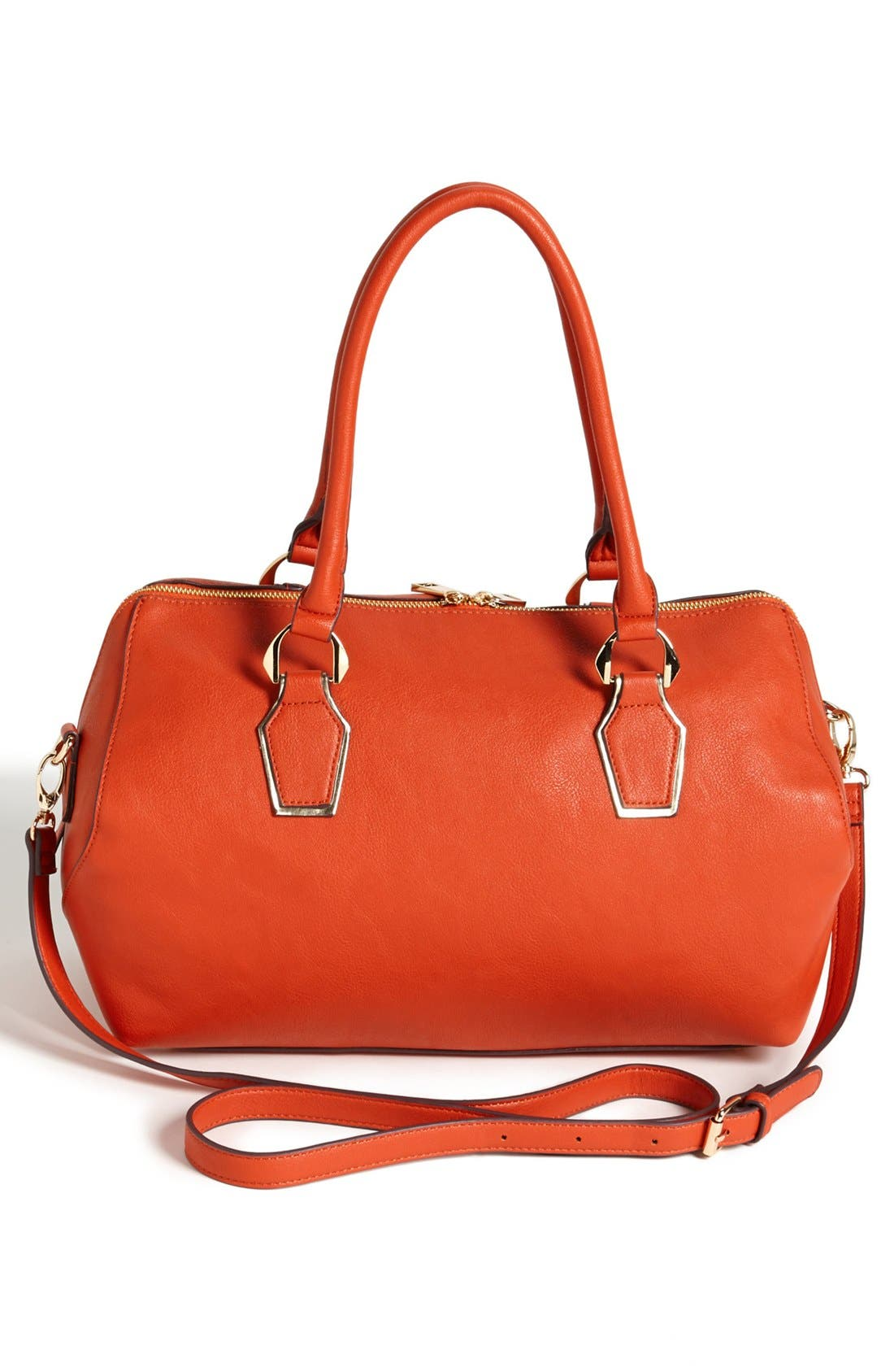 Alternate Image 4  - POVERTY FLATS by rian Faux Leather Satchel
