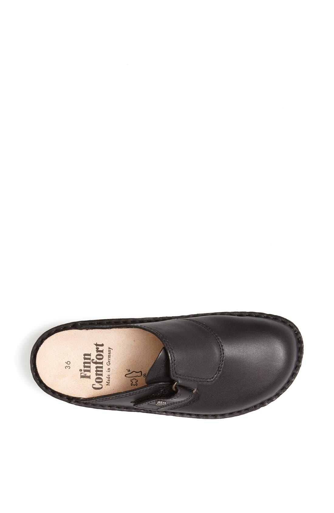 'Venice' Leather Clog,                             Alternate thumbnail 3, color,                             Black