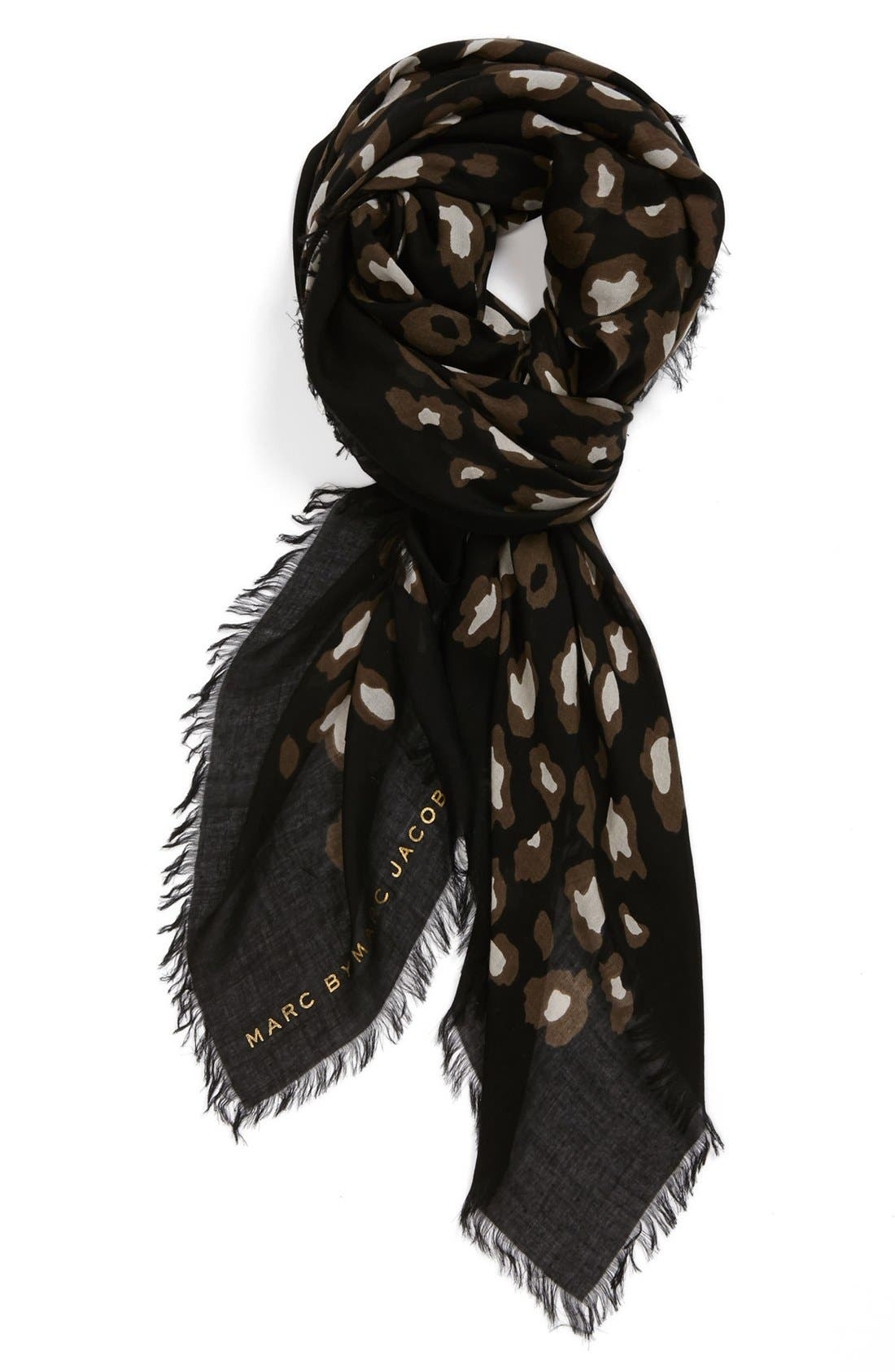 Alternate Image 1 Selected - MARC BY MARC JACOBS 'Sasha' Leopard Print Scarf