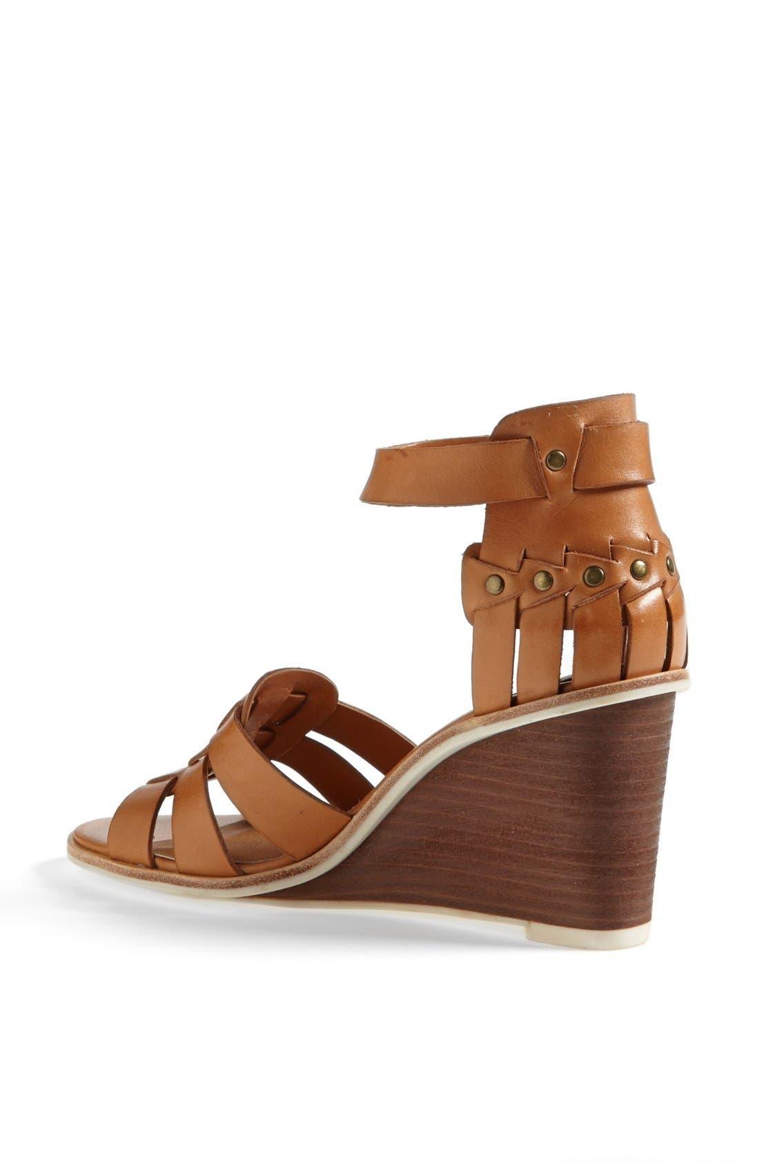 DV by Dolce Vita 'Cho' Wedge Sandal,                             Alternate thumbnail 2, color,                             Honey Leather