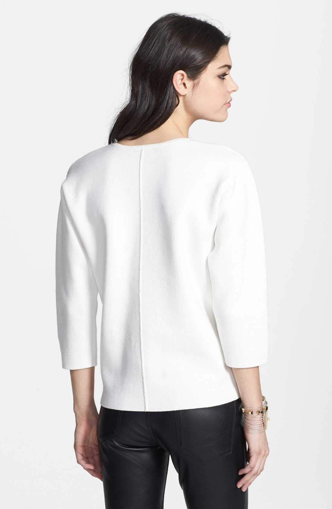 Alternate Image 2  - Leith Structured Cotton Blend Pullover