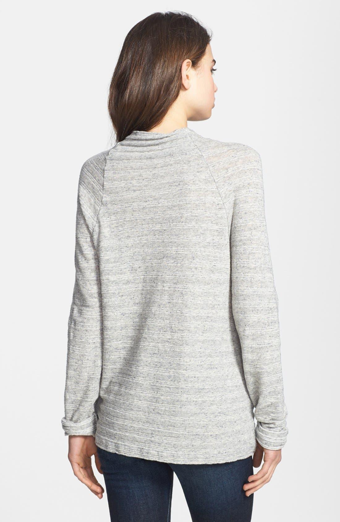 Alternate Image 2  - James Perse Stripe Funnel Neck Sweater