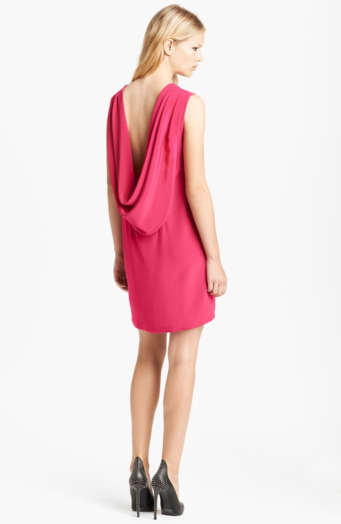 Alternate Image 2  - Saint Laurent Cowl Back Silk Dress